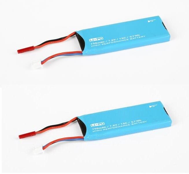 2 pçs/lote H216A 7.6 V 750 mAh 15C Bateria para Hubsan X4 RC Quadcopter Peças De Reposição H216A-04 acessórios