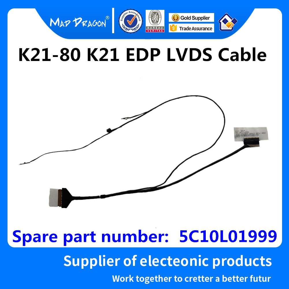 MAD DRAGON Brand laptop new LCD Video Cable For Lenovo K21-80 K21 EDP LVDS Cable 450.05V03.0001 450.