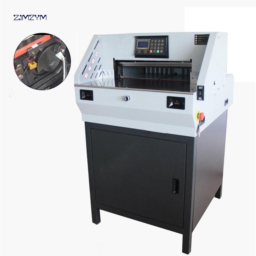 مقصلة ورق كهربائية رقمية E490R ، آلة قطع الكتب ، دقة عالية ، 490 مللي متر