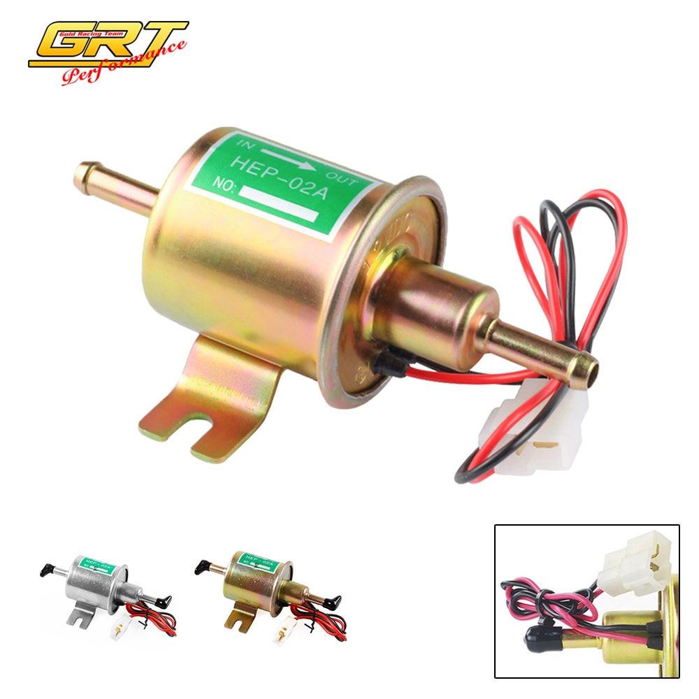 Bomba de gasolina elétrica, bomba de combustível elétrica universal de baixa pressão 12 v 8 fio de fixação diesel gasolina conjunto HEP-02A mm fp009,