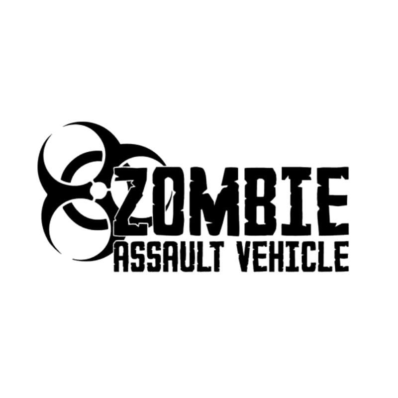 20.3CM * 10CM Zombie Assault Vehicle Bio Hazard Vinyl akcesoria samochodowe do stylizacji naklejki i kalkomanie czarny/Sliver C8-1341