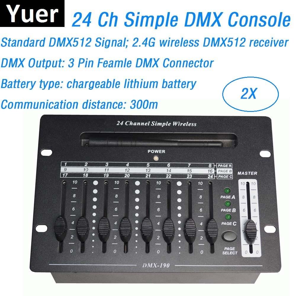Беспроводной контроллер DMX для сценического освещения, 24-канальное оборудование для диджея, консоль DMX СВЕТОДИОДНЫЙ LED прожекторов с вращаю...