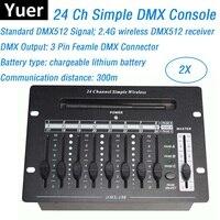 24 Channel Wireless DMX Controller Stage Lighting Dj Equipments DMX Console For LED Par Moving Head Spotlights Dj Controller