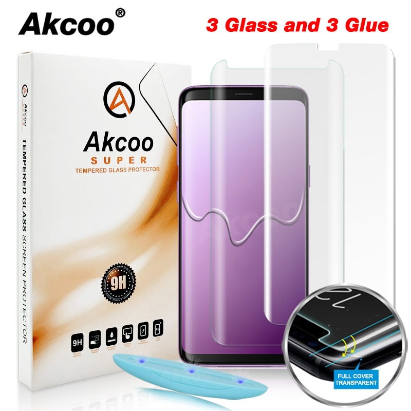 Akcoo S8 Защитная пленка для экрана с жидким УФ-покрытием для Samsung Galaxy S9 S8 Plus