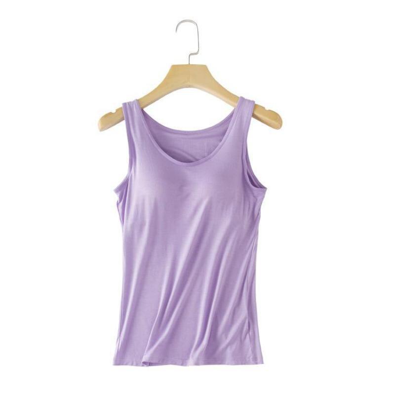 Camisa con tirantes para mujer, chaleco Modal, ropa de dormir informal de verano, ropa de dormir Modal, Tops con sujetador, camisón informal, camisón, camisón S M L XL XXL
