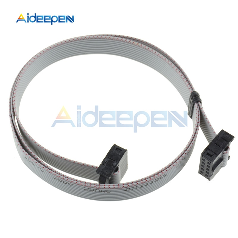 2,54mm 70CM 10 Pin USB ASP ISP JTAG AVR de alambre de 10 P IDC cinta plana Cable de datos conector de 2,54mm hembra a hembra