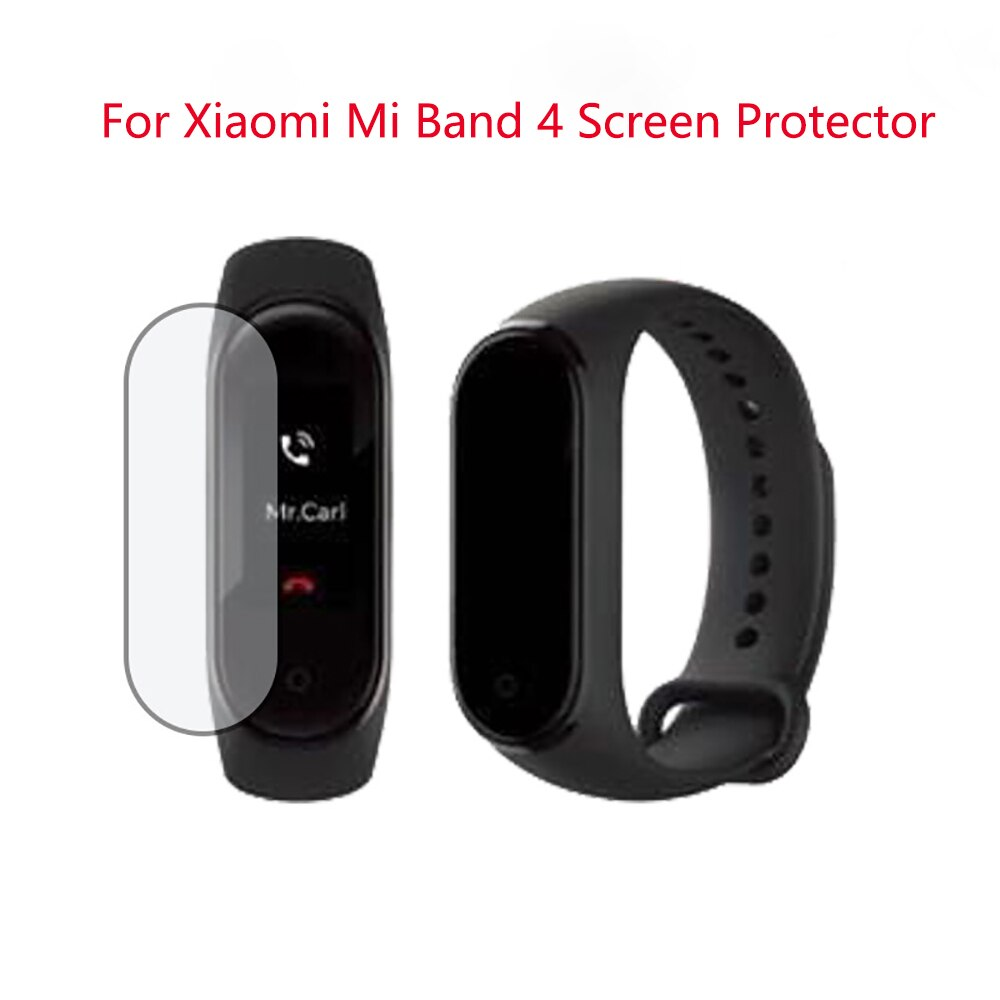 TPU Nano yumuşak ekran koruyucu Film için Xiaomi Mi bant 4 ekran koruyucu HD akıllı bileklik bilezik Anti-scratch film