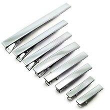 Pinzas de Metal para el pelo para niña, horquillas de una sola clavija, accesorios para el cabello, 32mm, 40mm, 45mm, 55mm, 65mm, 75mm, 95mm, 100 Uds.