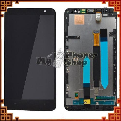 10 unids/lote Smart Phone para Nokia Lumia 1320 pantalla LCD pantalla táctil montaje + marco negro envío gratis por DHL EMS