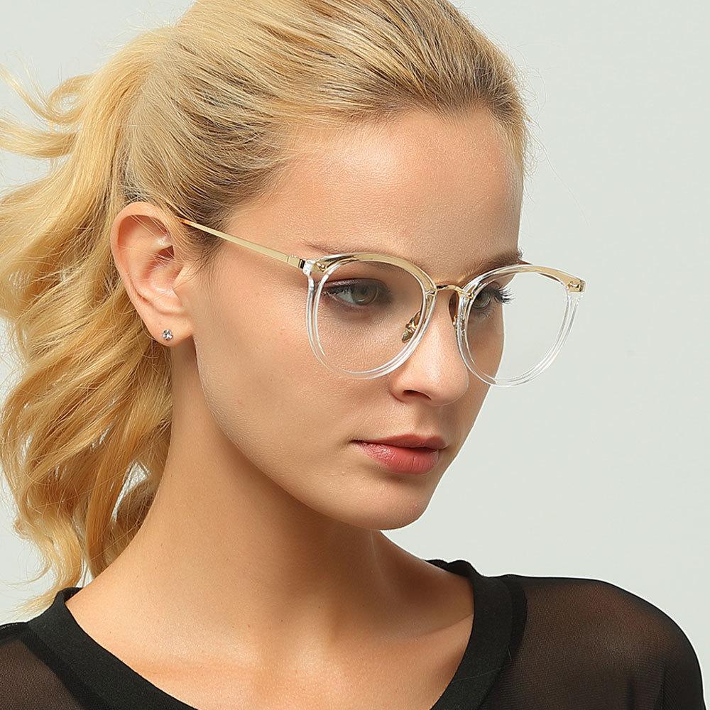 Cubojue-نظارات طبية شفافة للرجال والنساء ، عدسات بصرية لقصر النظر ، مؤشر فوتوكروميك مضاد للضوء الأزرق ، 1.56 1.61 1.67