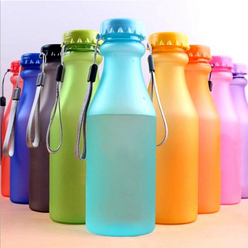 Hoomall 550ml Garrafas Plásticas de Esportes De Água À Prova de Vazamento-Yoga Ginásio Shaker Garrafa de Água Fit Estudantes Garrafa Inquebrável