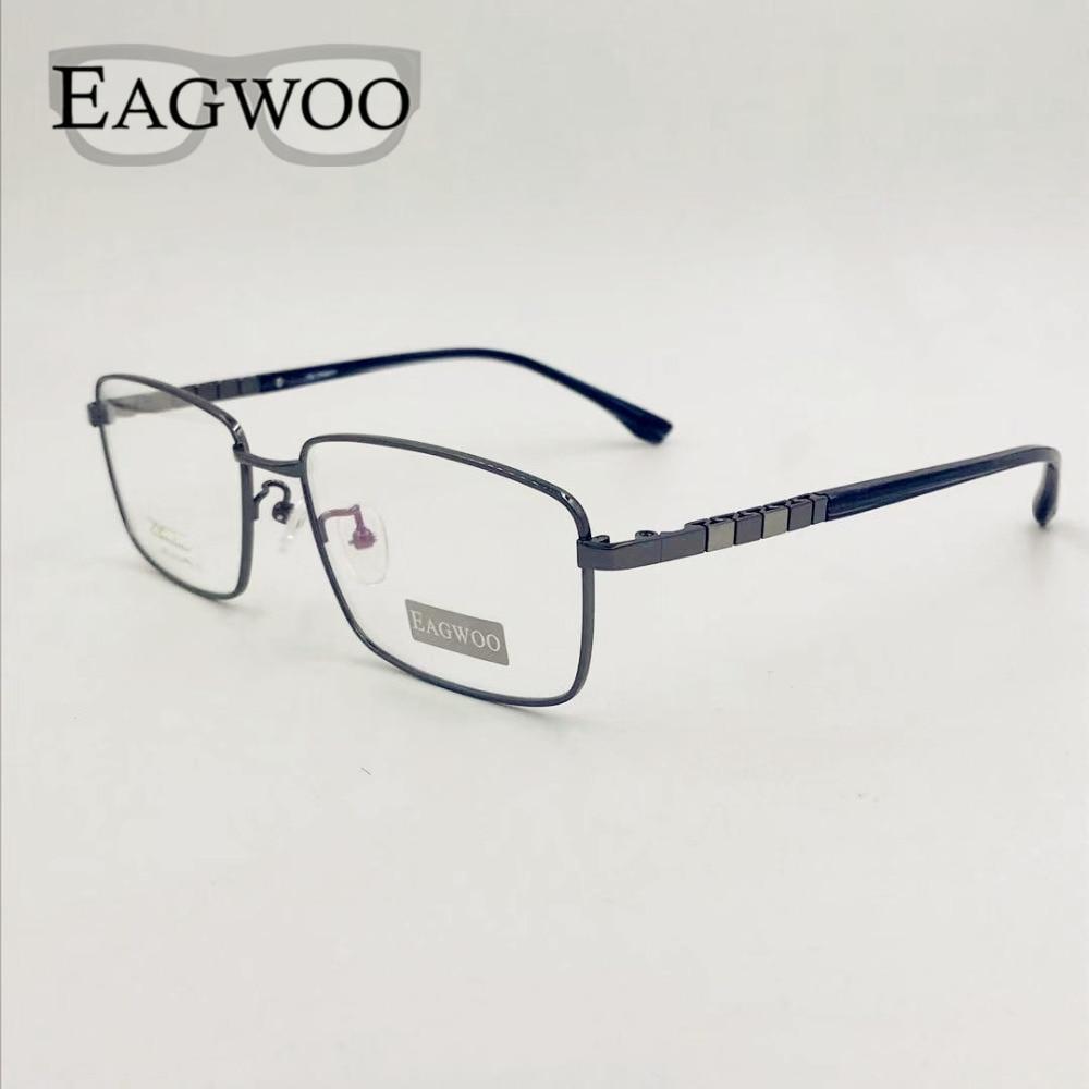إطار نظارات من التيتانيوم الخالص للرجال ، إطار بصري كبير ، حافة كاملة ، مرن ، بوصفة طبية ، وجه عريض ، مناسب ، 01012