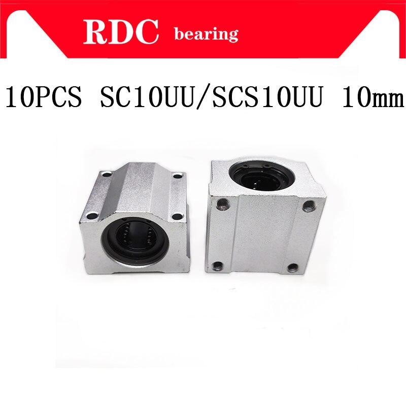 عالية الجودة 10 قطعة SC10UU SCS10UU الخطي motion الكرة محامل الشريحة كتلة جلبة ل 10 مللي متر CNC راوتر شحن مجاني