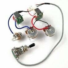 1 conjunto lp sg guitarra elétrica captador cablagens push pull switch potenciômetros para epi sem soldagem