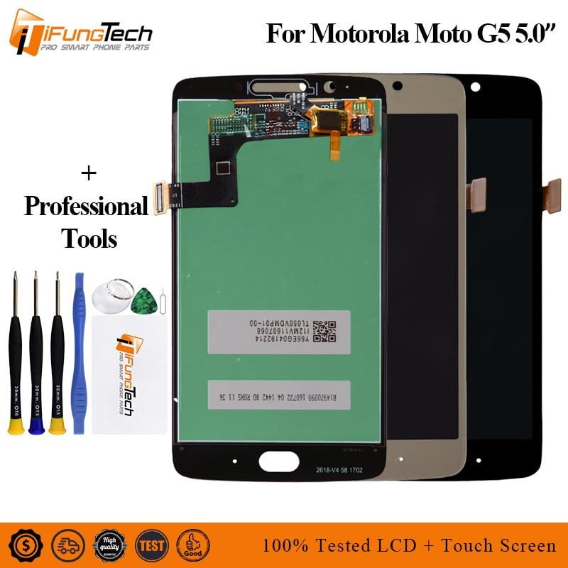 5.0 Original LCD For Motorola Moto G5 Display Touch Screen For Moto G5 LCD Digitizer Replacement XT1672 XT1670 XT1676