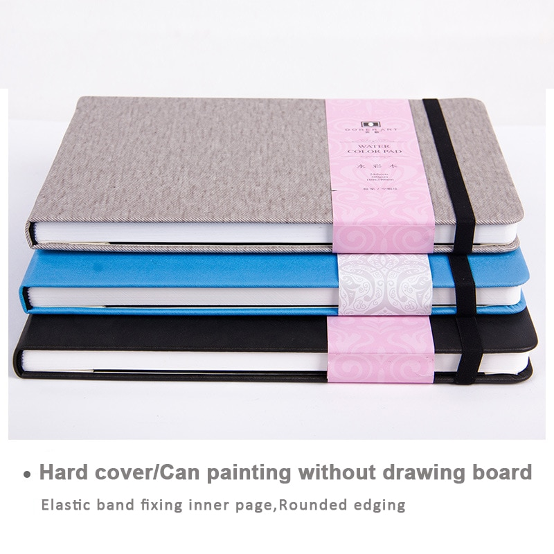 Eval 300g Professional Watercolor Paper 24Sheets Pocket Hand Painted Water-soluble Book For Artist Student Art Supplies enlarge