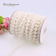 Fleur de neige artificielle de 2 mètres   Guirlande bricolage en perles, fleur de neige plate, guirlande en perles, décoration pour fête de mariage