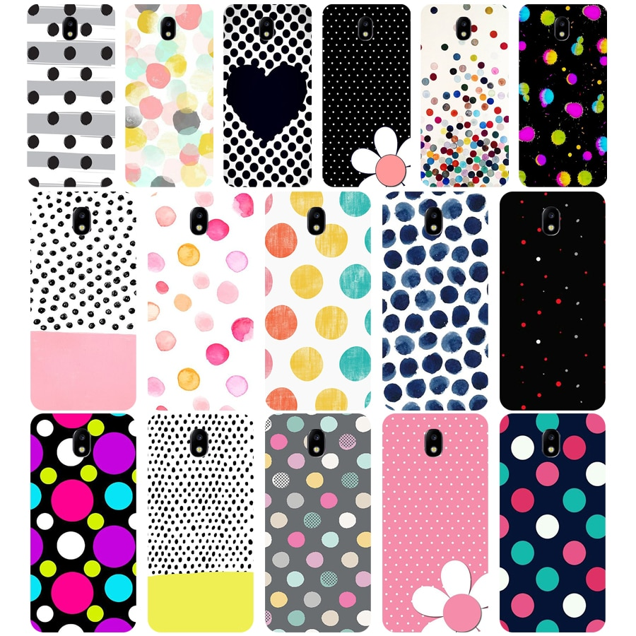 290WE polka dots Soft Silicone Tpu Cover phone Case for Samsung j3 j5 j7 2015 2016 2017 j330 j2 j4 prime j4 j6 Plus 2018