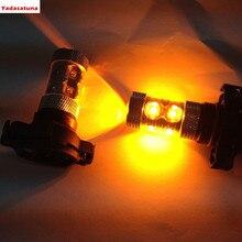 2 pièces nouveau PSY24W 50W ambre Cree XBD puces LED mise à niveau indicateur ampoules/clignotant avant brouillard DRL lumières Canbus *** universel