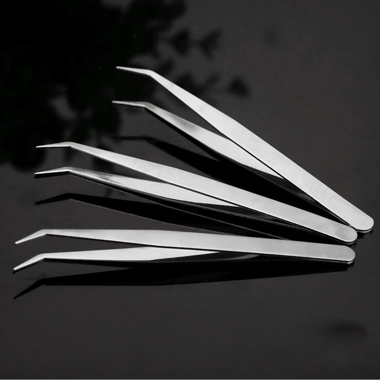 ZtDpLsd 1Pcs Straight Elbow Stainless Steel Tank Tweezers Pliers Aquarium Tool Fish Aquatic Plants F