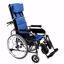 Fauteuil roulant manuel inclinable portable léger pour handicapés