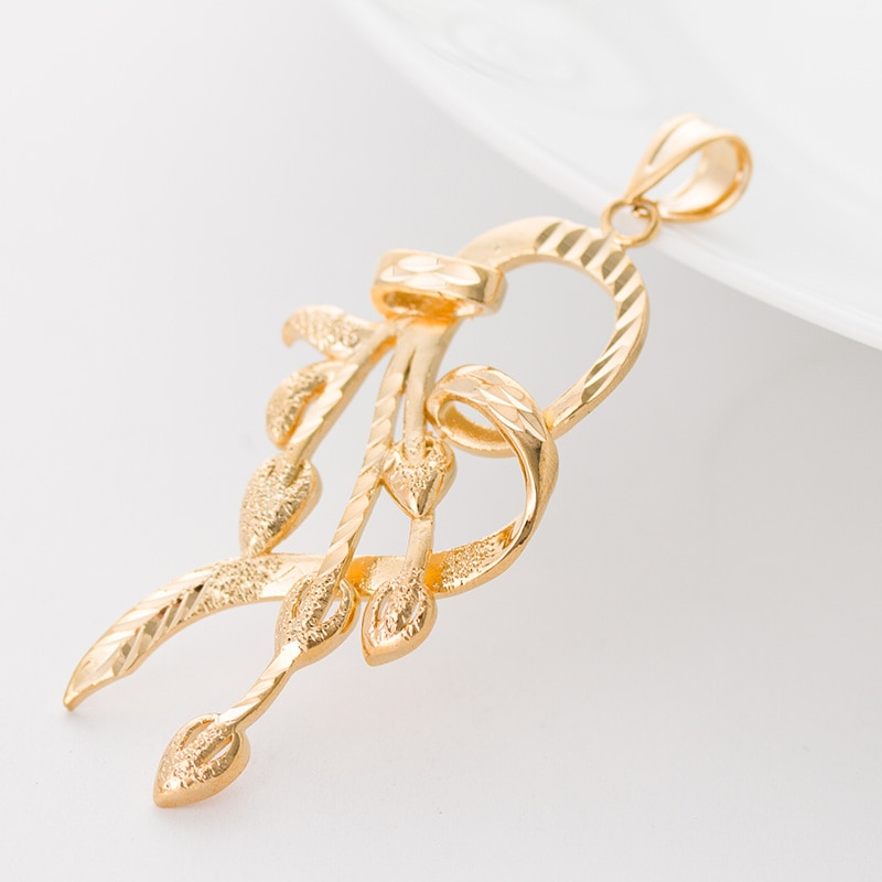 Colgante Drbonham de 60x30mm, collar de la marca 18KGF, joyería rellena de oro, colgante de corazón antiguo, collares de boda de amor para mujer
