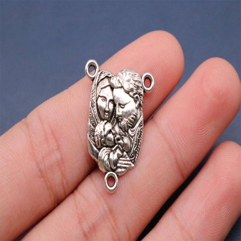 Catholic vintage Virgin Mary necklace medal. Rosary Necklace Santa Ana Miracle Medal Necklace Medal