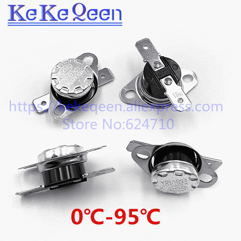 KSD301 250V 10A 0-95Celsius Degree Normally Open/Normally Close NO Thermostat Temperature Thermal Control Switch
