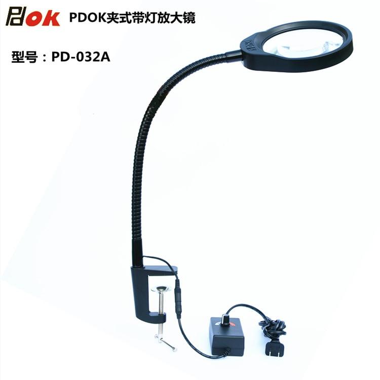Multi Functional Pinza amplificatore Led Luce di Controllo di Manutenzione Con Una Lente di Ingrandimento 8X Magnifier lenti Ottiche