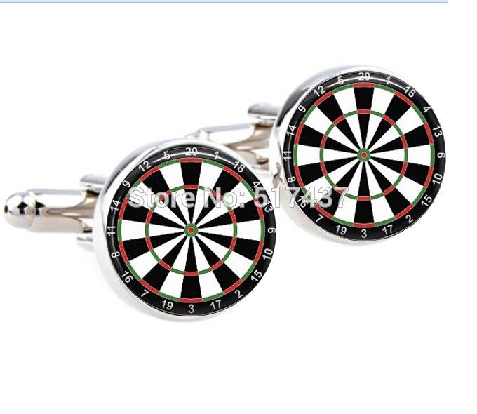 CF-066, 1 par, al por mayor, gemelos para hombre, gemelos diana para dardos, gemelos redondos de cristal hechos a mano, gemelos de camisa de hombre