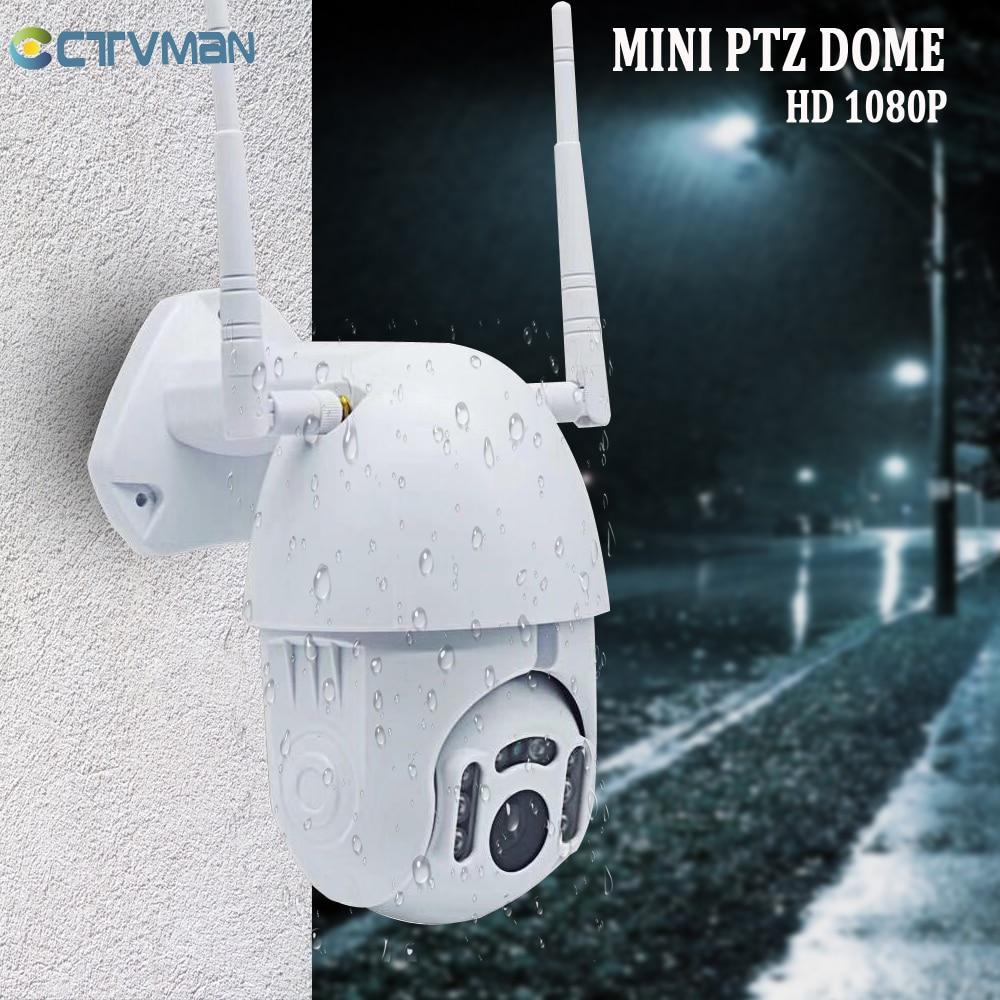 CTVMAN 1080P PTZ Camera WIFI Outdoor Speed Dome Wireless IP Camera Cloud Storage CCTV Surveillance 2MP HD Security P2P ICSEE