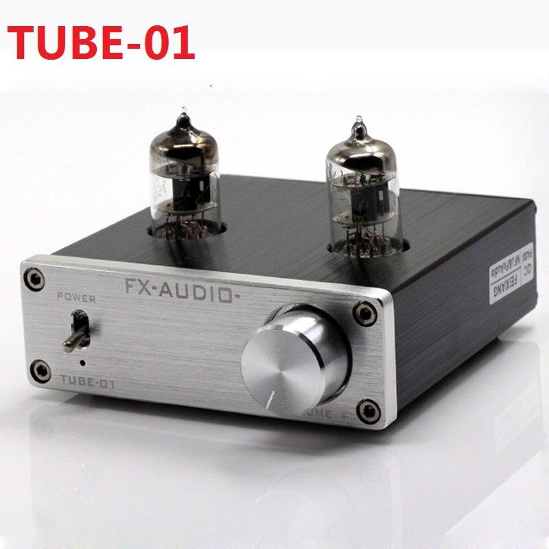 2017 New FX-AUDIO TUBE-01 Mini Audio Preamps Tube Amplifier Buffer 6J1 HIFI DAC Audio Pre amplifier DC12V/1A Red LED Tube Lamps 2019 fx audio new tube 03 mini audio tube pre amps dac audio with bass treble adjustable dc12v 1 5a power supply
