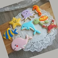 8pcs ocean animal whalestarfishseahorse cookie cutter ocean theme party cake decorations supplies diy baking decorating tools