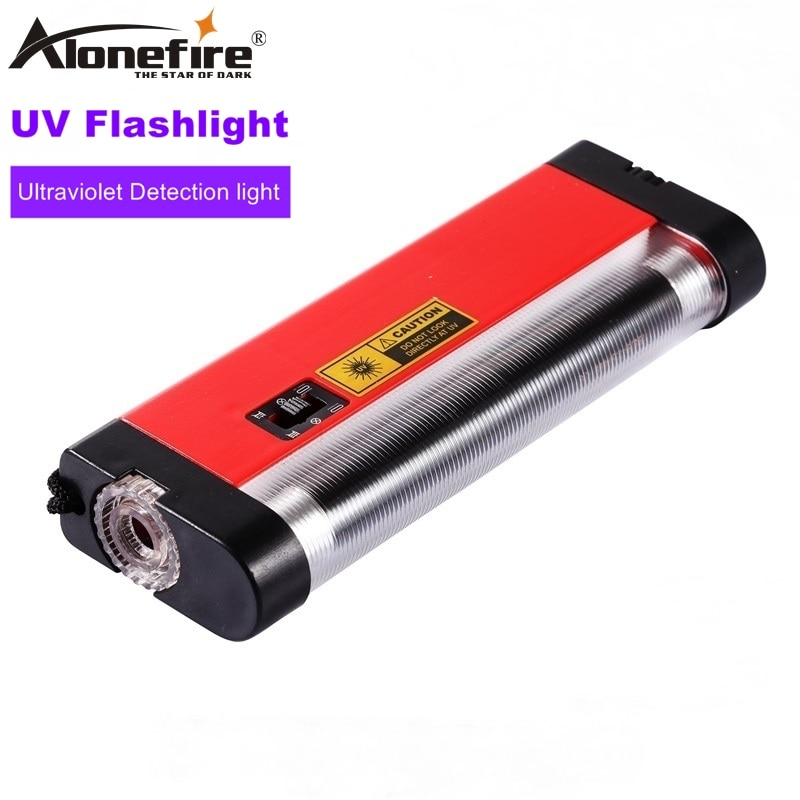 AloneFire 4 W Ultra violet luz Travel Money ID Moeda Passaportes pet urina UV Lâmpada Detector De luz Branca lanterna AA bateria