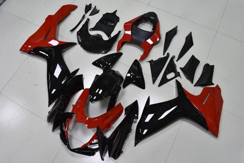Kits de carrocería para Suzuki GSXR750 2011 - 2015 K11 Kits de carenado negro y rojo para Suzuki GSXR750 2013 carenados de plástico GSX R 750 11 12