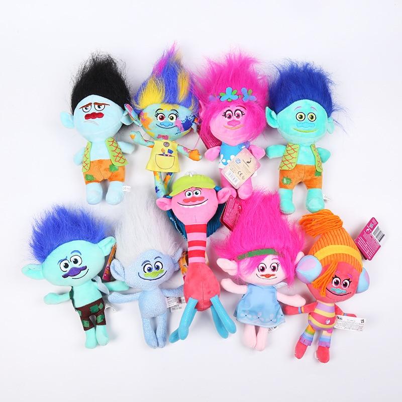 Плюшевая игрушка в виде троллей, Poppy Haper, филиал, диджей, суки-крик, Ги, алмаза, Купера, плюшевые игрушки, мягкие детские игрушки