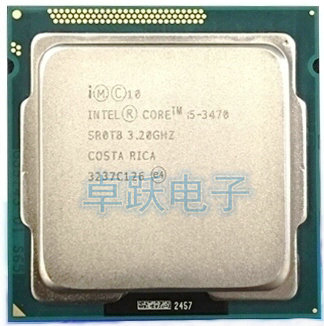 Free Shipping lntel I5 3470 CPU Processor Quad-Core(3.2Ghz /L3=6M/77W) Socket LGA 1155 Desktop CPU i5-3470 (working 100%)