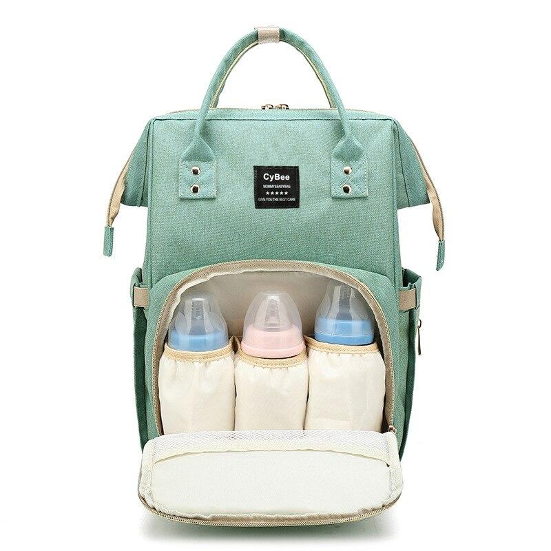 Bolsa de pañales mamá maternidad bolsa de pañales gran capacidad bebé mochila de viaje de diseño cuidado de enfermería bolsa de bebé para mamá