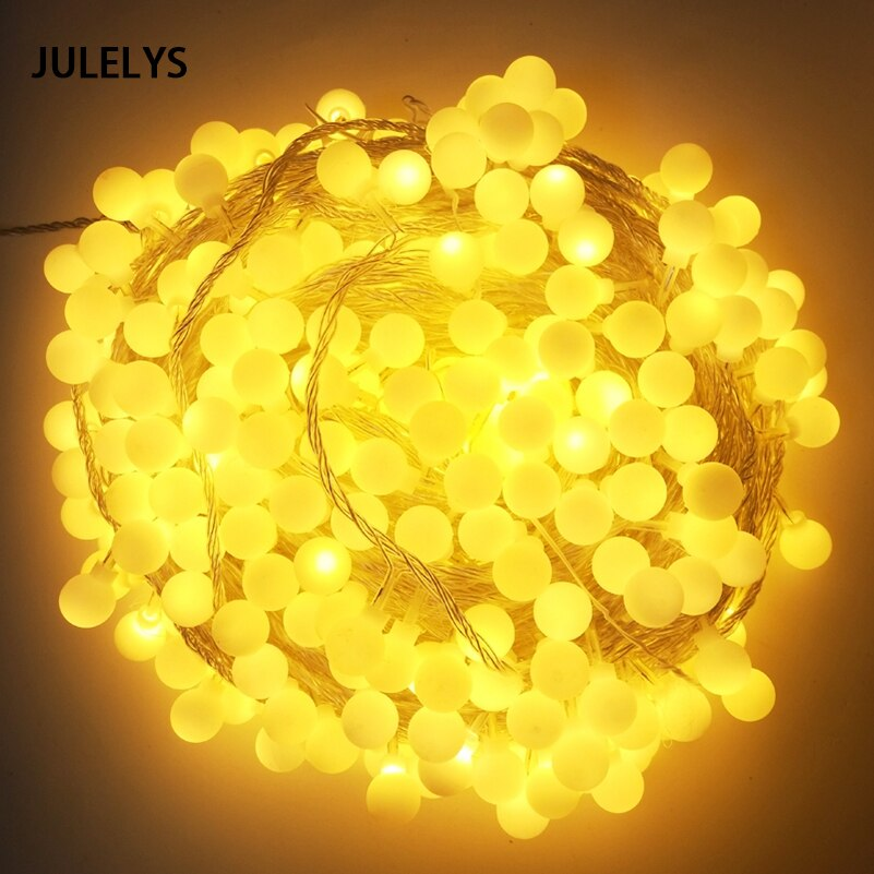 10M 20M 30M 50M Ball Garland LED String Lights Christmas Party Wedding Lights Decoration For Living Room Holiday Lighting 3m globe led garland starry crystal wishing ball string lights decors for curtains bedroom living room balcony christmas wedding