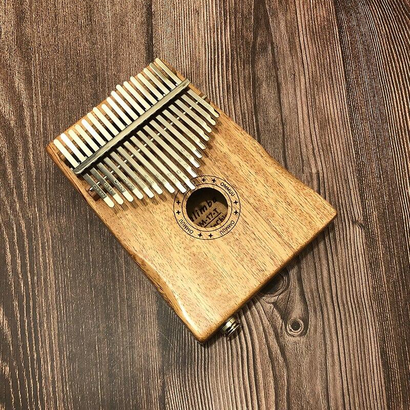 Cable 17 Key Kalimba African Solid Mahogany Thumb Finger Piano Sanza 17 key Solid Wood Kalimba Mbira Thumb Free Shipping Kalimba enlarge