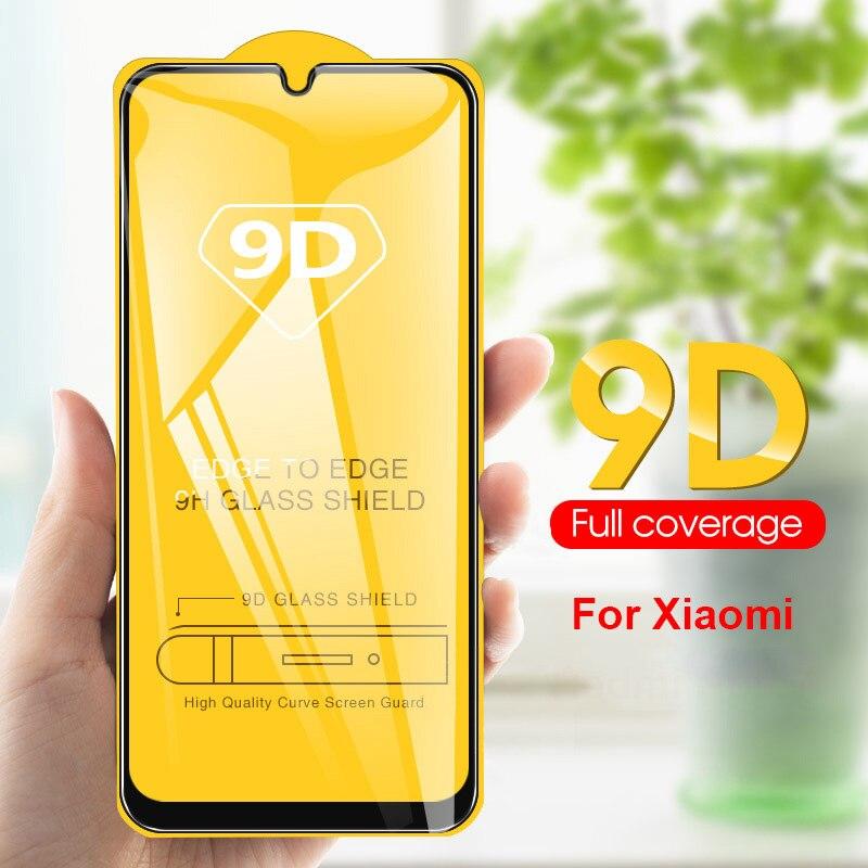 Vidrio templado de pantalla de cubierta completa 9D para mi note 5 6 7 Pro Phone POCO F1 on 6X A2 Lite Redmi 5 Plus 6 6A 6PRo mi 8 9 se cc9e