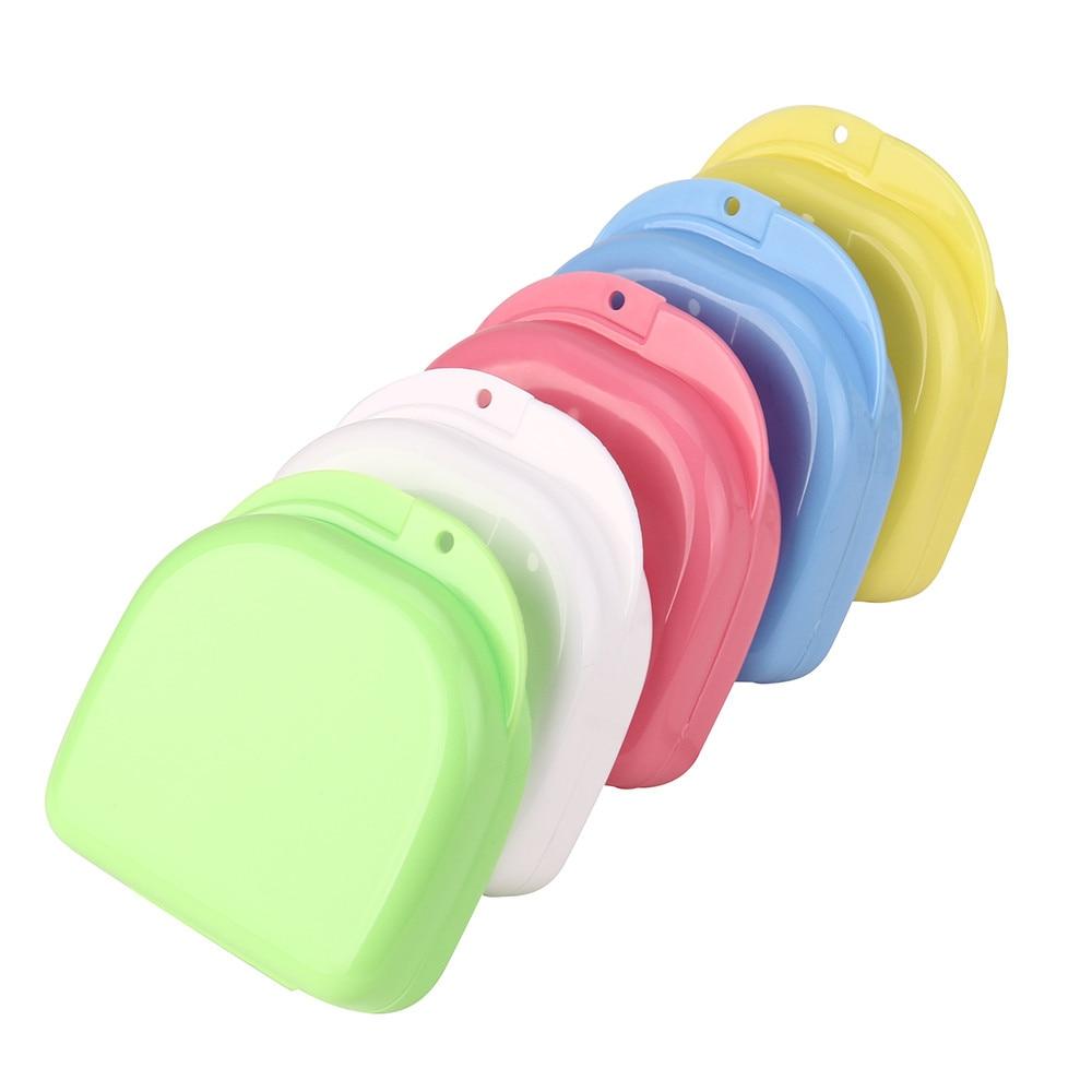 Gelegentliche Farben Prothese Bad Appliance Falsche Zähne Box Lagerung Fall Spülen Korb Jul14 Drop Verschiffen MG