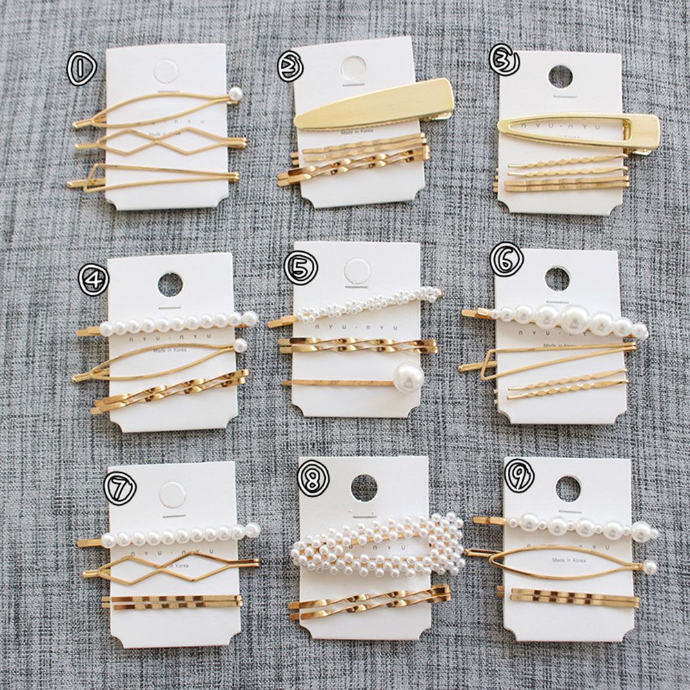 3 шт./компл. металлическая женская заколка для волос с жемчугом, заколка для волос, аксессуары для волос, инструменты для стайлинга, Прямая поставка, новое поступление