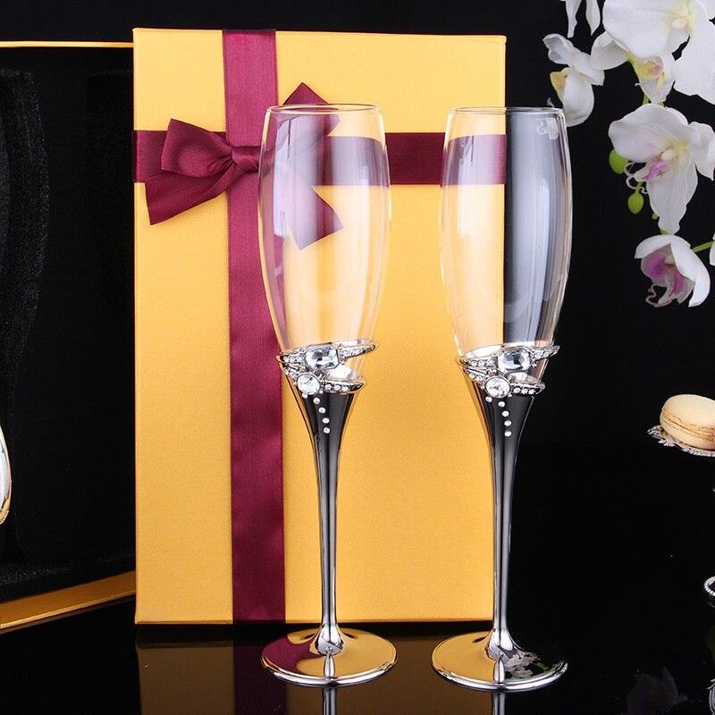 Anel de diamante anel de diamante xícara de vinho tinto Copo de Champanhe de vidro Europeia elegante presente liga pé pedestal