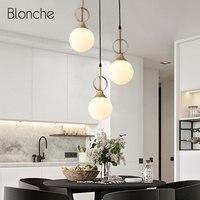Nordic Glass Pendant Lights Modern Hang Lamp for Home Dining Room Living Room Kitchen Lamp Industrial Loft Decor Light Fixtures