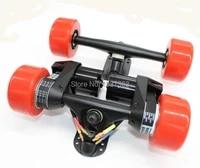electric longboard skateboard conversion kit rear truck with two motor front truck belt drive dual 5065 motor drive