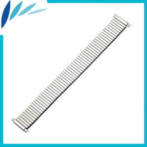 Stainless Steel Watch Band 16mm 18mm 19mm 20mm 21mm 22mm 23mm for Fossil Elastic Strap Wrist Expansion Loop Belt Bracelet Silver