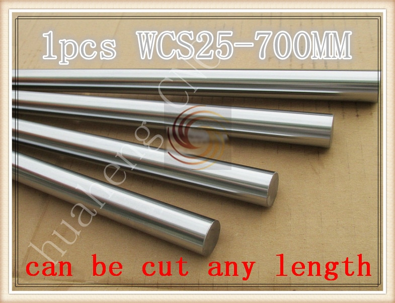 3D printer rod shaft WCS 25mm linear  length 700mm chrome plated  guide rail round   1pcs