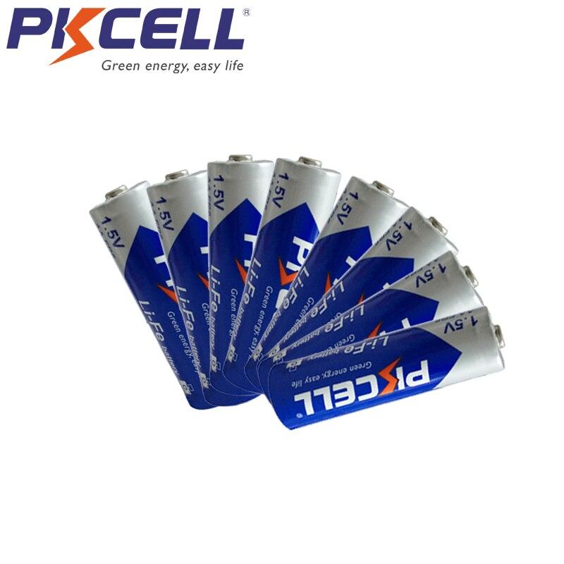 8 шт PKCELL 1,5 V FR6 L91 AA LiFeS2 fr14505 батарея 3000MAH 14,5*50,5 мм 15 лет для мобильного телефона, Walkman, камеры