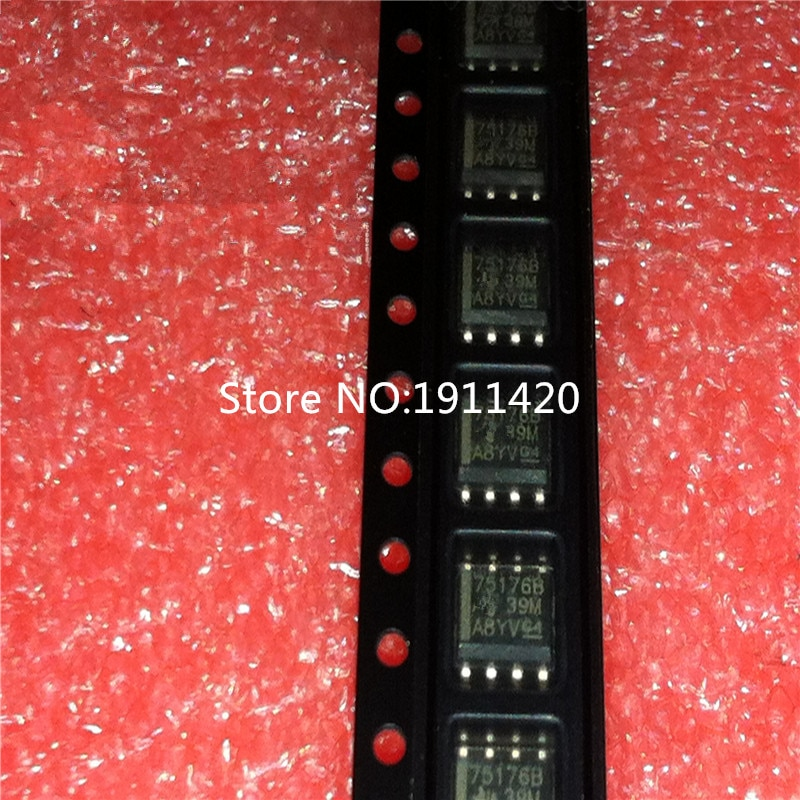 Freies verschiffen 100 stücke/lot 75176 SN75176BDR SN75176BD SN75176B SN75176 SOP8 Beste qualität